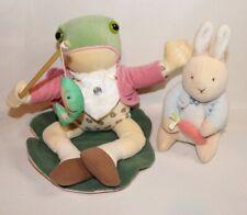 Eden Beatrix Potter Mr. Jeremy Animated Musical Plush Frog Fishing Pole