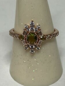 RING BOMB PARTY SIZE 9 Love Is On The Way Olivine Peridot SRP $104