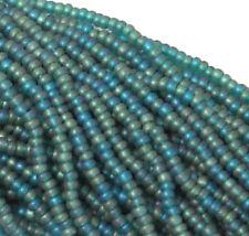 Emerald Matte AB Czech 11/0 Glass Seed Beads 1 (6 String Hank) Preciosa Jablonex