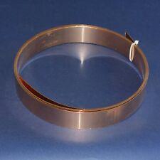 Bronzeblech CuSn6 Bronze Blech Band 42 mm Breite x 0,6 mm Dicke, ca. 3m lang
