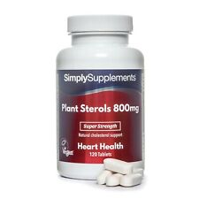Plant Sterols 800mg *120 Tablets *Proven To Naturally Lower Cholesterol