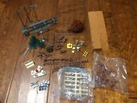 Lot of HO Scale Trees Landscape Scenery Trees Lamp Posts Fences Signs Animals