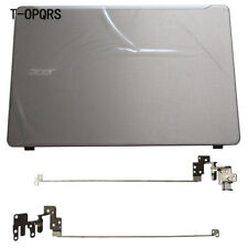 For Acer aspire F5-573 F5-573G Silver LCD back cover top case Rear Lid + Hinges