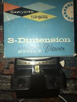 VINTAGE SAWYERS VIEWMASTER 3 DIMENSION LIGHTED VIEWER MODEL F 2026 ~154~