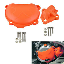 Plastic Engine Clutch Cover & Water Pump Guard For KTM 350 SXF EXCF/SIX DAYS XCF