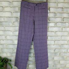Sag Harbor Womens Dress Pant 6P Pink Lilac Gray Glen Plaid Stretch Straight Leg