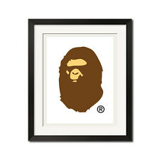 A Bathing Ape BAPE Logo White BG Poster Print