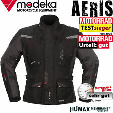 MODEKA 3in1 Motorrad Jacke AERIS schwarz wasserdicht Thermofutter heruasnehmbar