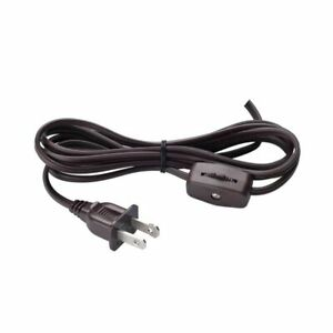 Sun-Lite J-10 8FT Cord Set with Inline Switch, 3 Amp 120 Volt, 18-2 AWG, SPT-2