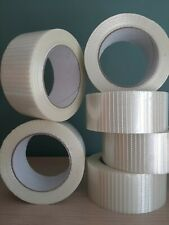 More details for reinforced crossweave tape extra strong 6 rolls 50mm x 50 metres