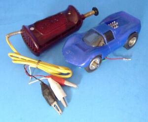 """1967 ELDON CHAPARRAL BLUE NO. 1350-11 w COX CONTROLLER 1/32 SCALE SLOT CAR 5"""""""
