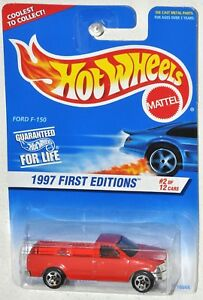 Hot Wheels 1997 First Editions #02 Ford red F-150 MOC Collector #513 5spk Wheels