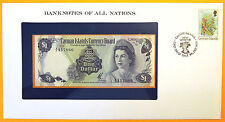 Cayman Islands - $1 - Uncirculated Banknote enclosed in stamped envelope.