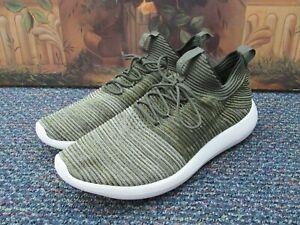 Nike Roshe Two Flyknit V2 Olive Green Running Shoes Men's Size 12 918263-301