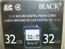 New IN PACKAGE BLACKs 32GB SD SDHC Class 4 Flash Memory MEDIA Card 32GO 32 GB
