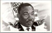 MLK Martin Luther King Jr American Flag RPPC Real Photo Postcard C6
