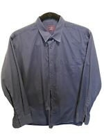 Untuckit Button Down Shirt Size XXL 2XL Navy Blue Long Sleeve 100% Cotton