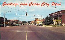 c1950s Main Street View, Cedar City, Utah Postcard