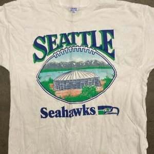 Vintage Seattle Seahawks Football NFL T-Shirt White Unisex Cotton Reprint TK1748