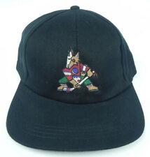 PHOENIX COYOTES NHL VINTAGE 1990s BLACK SNAPBACK THROWBACK CAP HAT NWT! RARE