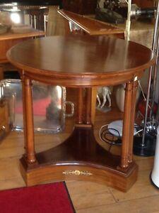 Kleiner runder Kaffeetisch, Mahagoni, Empirstil, Empfangstisch, Spieltisch