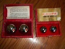 2 Sets of Chinese Health Exercise Relieving Stress Therapy Baoding Balls Silver