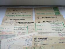 alte Rechnungen,  Wernesgrün, Heckel, Exportbier-Brauerei ,Grenzquell