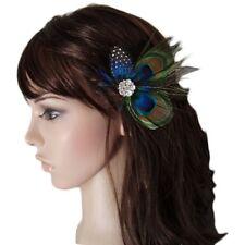Cute Peacock Feather Hair Clip G3W8