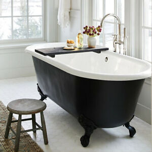 Double Ended Cast Iron Bath + Deck Taps & Waste/Trap Kit 1700 NO TH