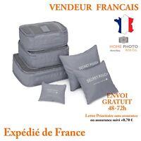 6x Sac de Rangement Poche Maison Organisateur de Bagage Valise Voyage Vacances