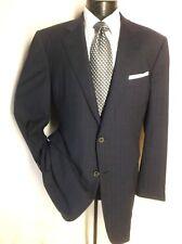 """Ermenegildo Zegna Blue Striped Suit 2 Button 44L Pants 36""""W/36 """"L Athletic fit"""