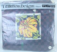 Tiger Lily Titillation Designs LTD C4 Crewel Embroidery Kit Design Appx 6 x 5.5""