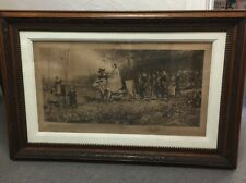 CY Turner Original Etching The Bridal Procession 1887 Framed Etching Huge!