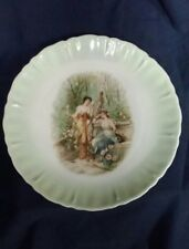 """BEAUTIFUL OLD ROYAL BAVARIAN CHINA WOMEN IN A GARDEN CHERUBS AND DOVES 8"""""""