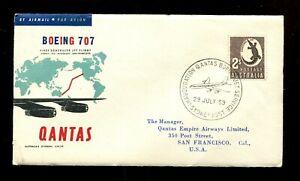 QANTAS AIRLINES - BOEING 707 - FIRST SCHEDULED JET FLIGHT - 29 JULY 1959