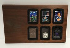 The Camel Company Zippo Collection 1996 with Wood Frame and 6 Lighters Rare