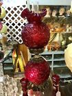 Fenton Ruby Red  Gone with the wind  lamp