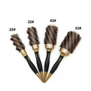 Barber Hair Round Comb Brush Anti-static Ceramic Coating Roller Hairbrush