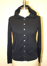 EUC BANANA REPUBLIC NAVY BLUE OPEN JACKET WITH HOODIE - SMALL 4 6