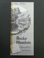 Vintage Rocky Mountain National Park, Colorado Travel Brochure 1956 Souvenir