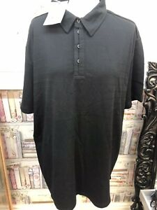 Jasper Conran Mens Black Polo Tshirt Top Size XXL Bnwt