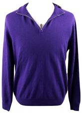 Polo Golf Ralph Lauren 1/4 Zip Merino Wool Sweater Mens Medium Purple