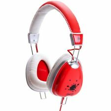 FUNKY Series Lightweight Headphones w/inline Mic Works w/iPhone RED