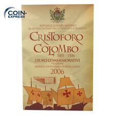 *** 2 EURO Gedenkmünze SAN MARINO 2006 Christoph Kolumbus Colombo im Folder Coin