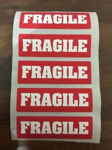 Fragile Stickers Labels 90 X 30MM Self Adhesive 50, 100, 250, 500, 1000, or more