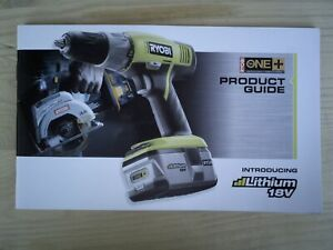 Ryobi Product Guide introducing Lithium 18V