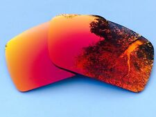 ENGRAVED POLARIZED FIRE RED MIRRORED REPLACEMENT OAKLEY GASCAN S LENSES