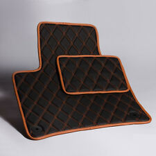 Luxury Black Bespoke Leather Car Floor Mats Fully Tailored fit VW Touareg 2010-