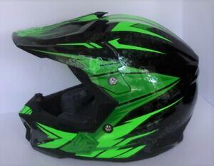 HJC CL-X7 Solid Helmet Size XL GREEN/BLACK w/Bag & Instructions  VGC