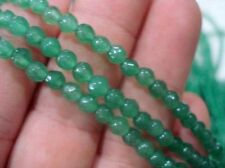 """4mm Green Natural Emerald Faceted Round Loose Beads Gemstone 15"""""""